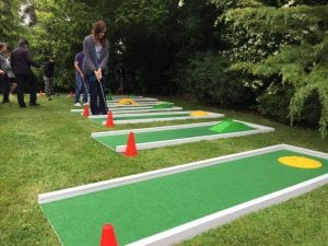 Christmas Party Entertainment - Crazy Golf Course Hire